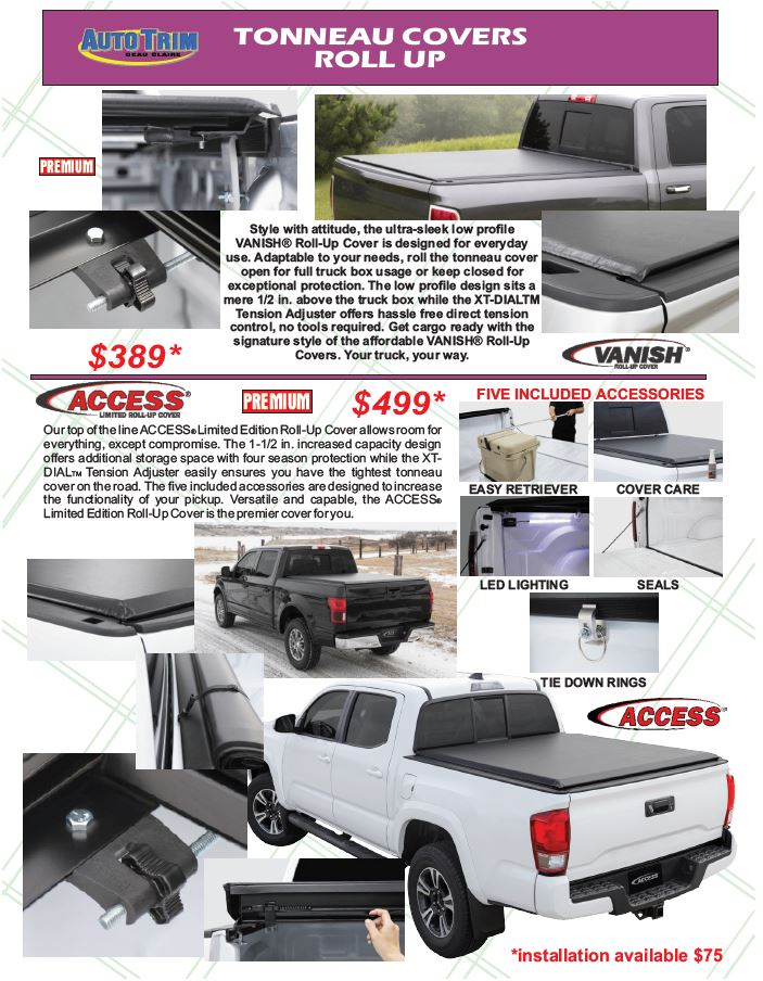Roll Up Tonneau Covers From Auto Trim Of Eau Claire Wi