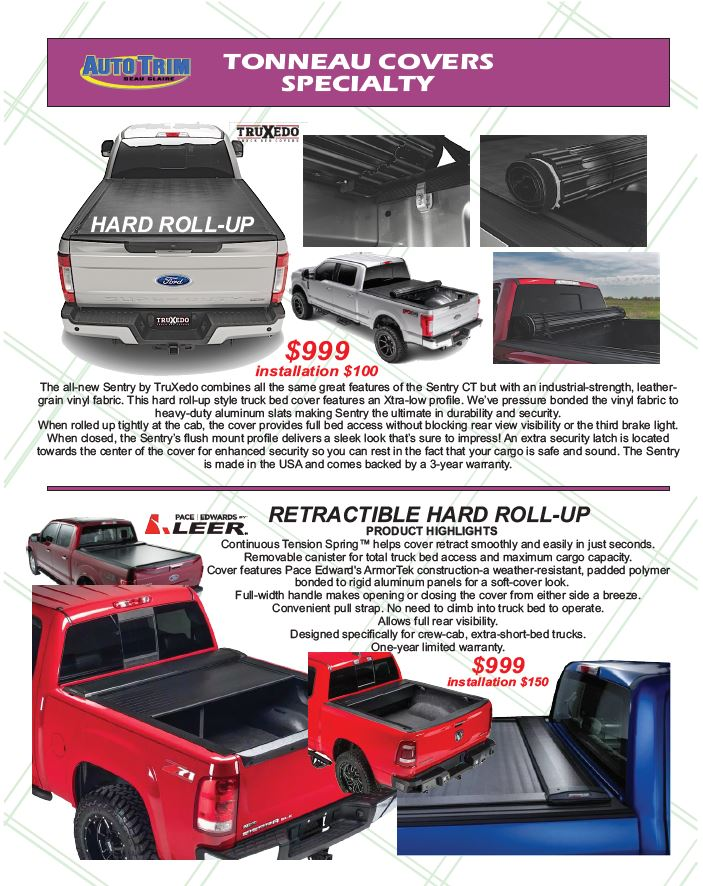 Specialty Tonneau Covers From Auto Trim Of Eau Claire Wi